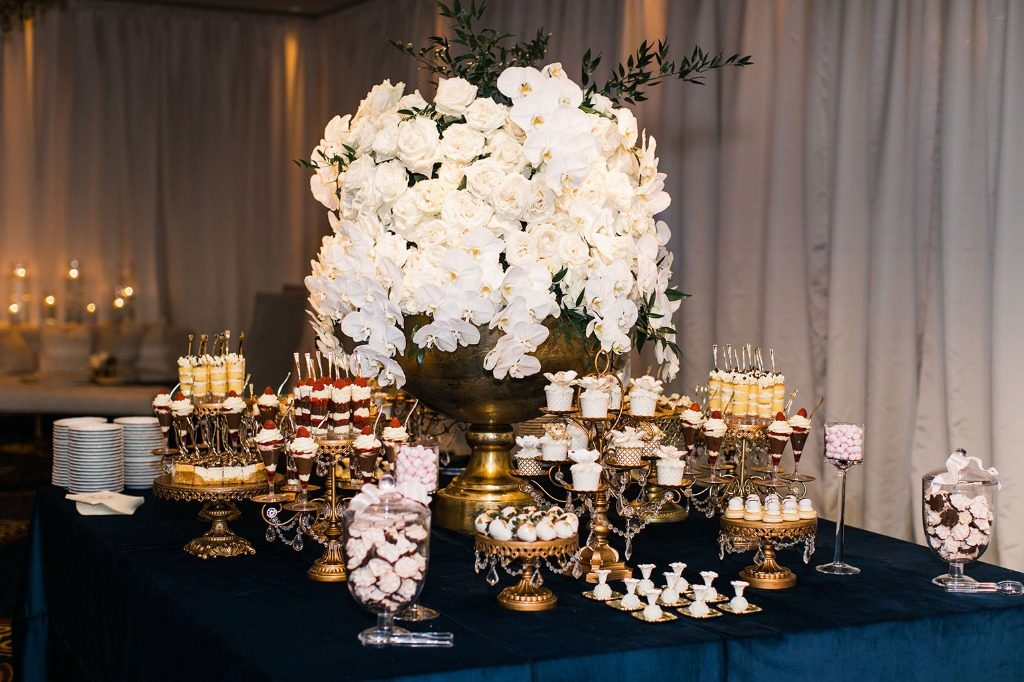 Opulent Treasures collection of Antique Gold Chandelier Cake and Dessert Stands • Wedding Dessert Table by Mishelle Handy Cakes