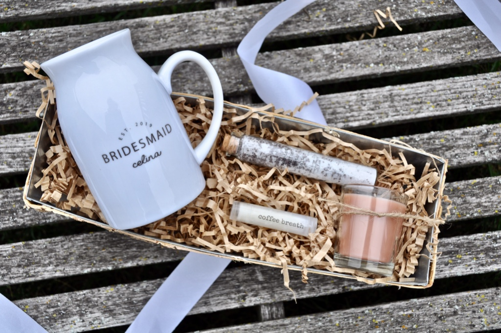 Bridesmaid gifts inspired by coffee, the spa, and beauty!