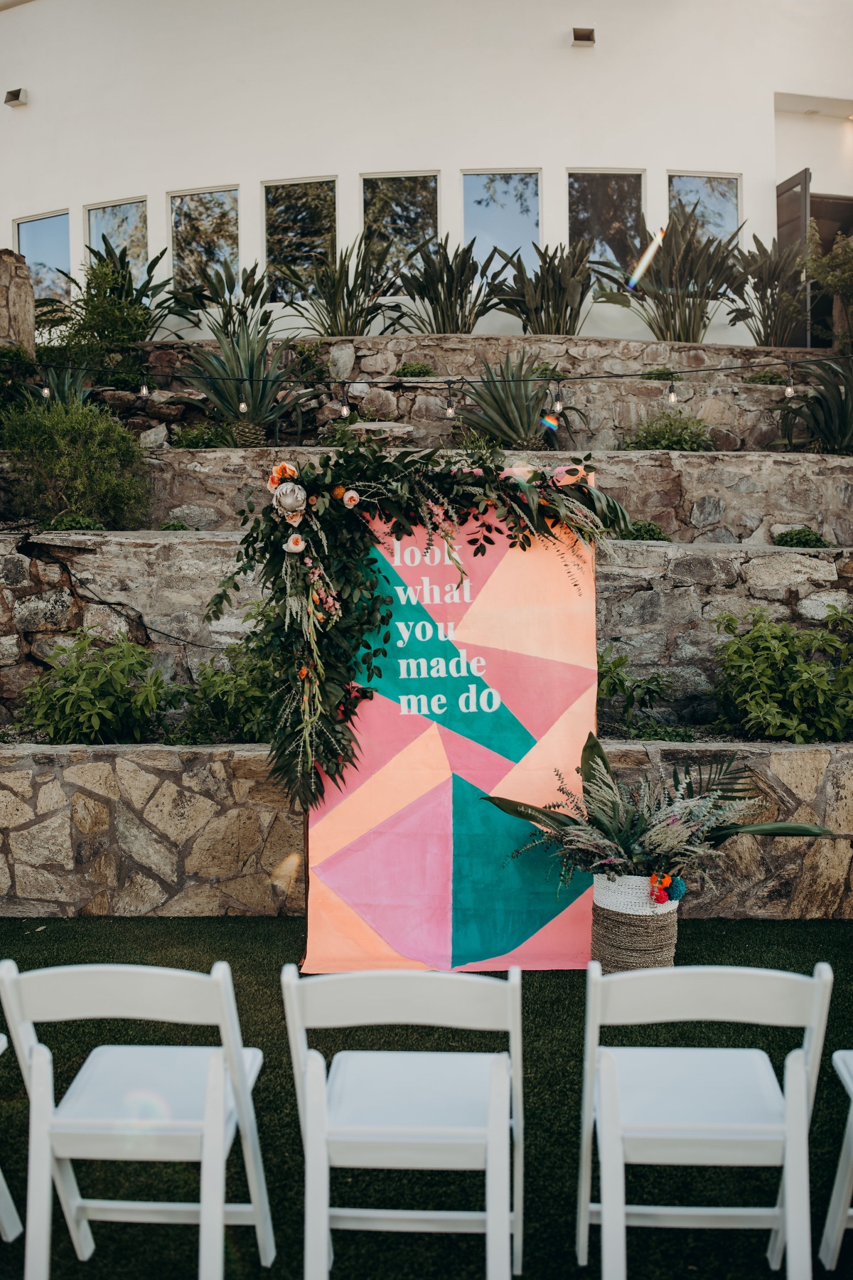 Modern ceremony backdrop