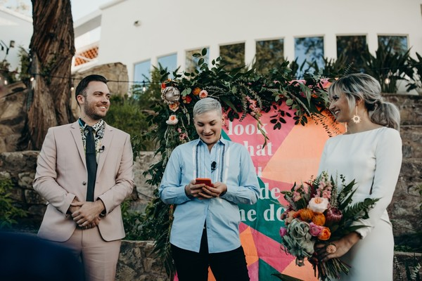 Neon Eclectic Alice in Wonderland Inspired Wedding