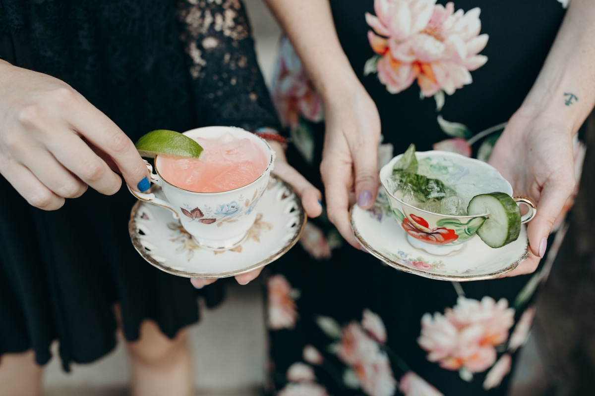 Tea cup cocktails