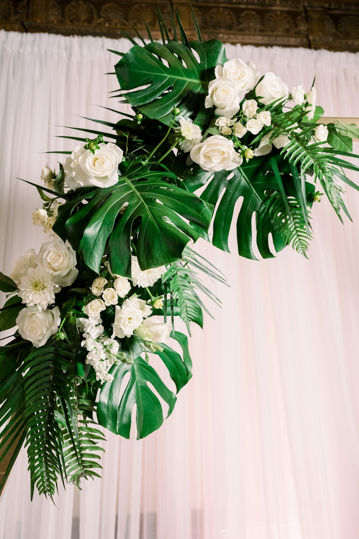 Tropical ceremony greenery