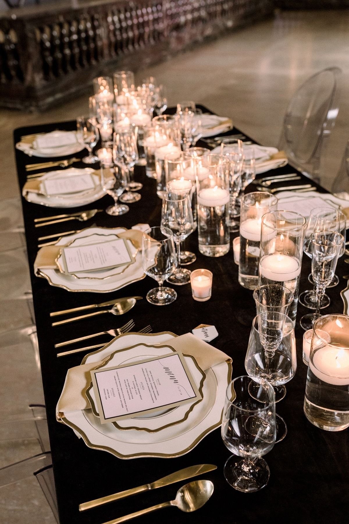 New Years wedding table decor