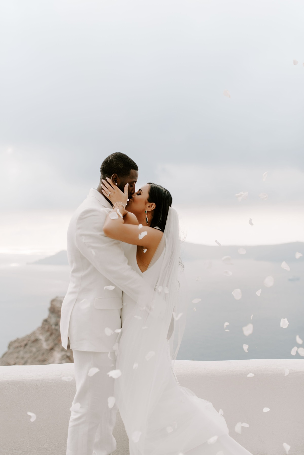 Just married in Santorini