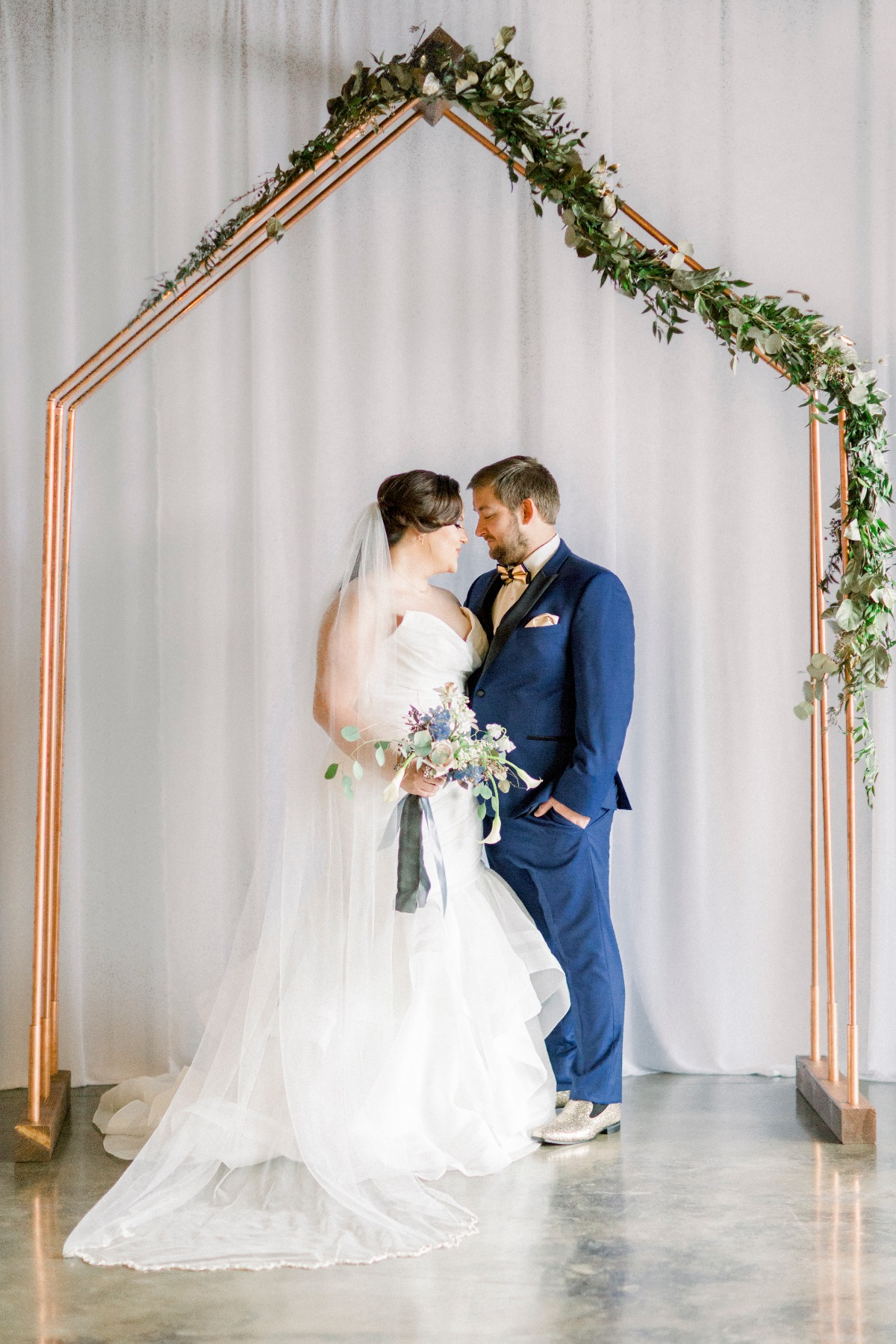 Copper wedding arbor