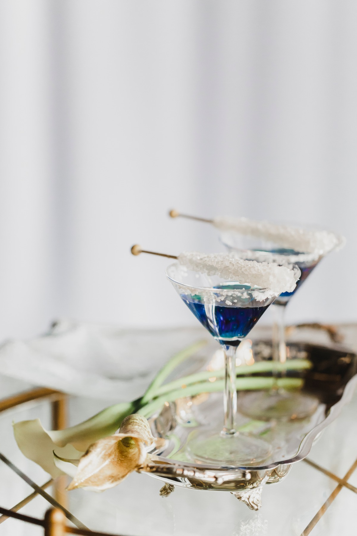 Rock candy cocktails wedding
