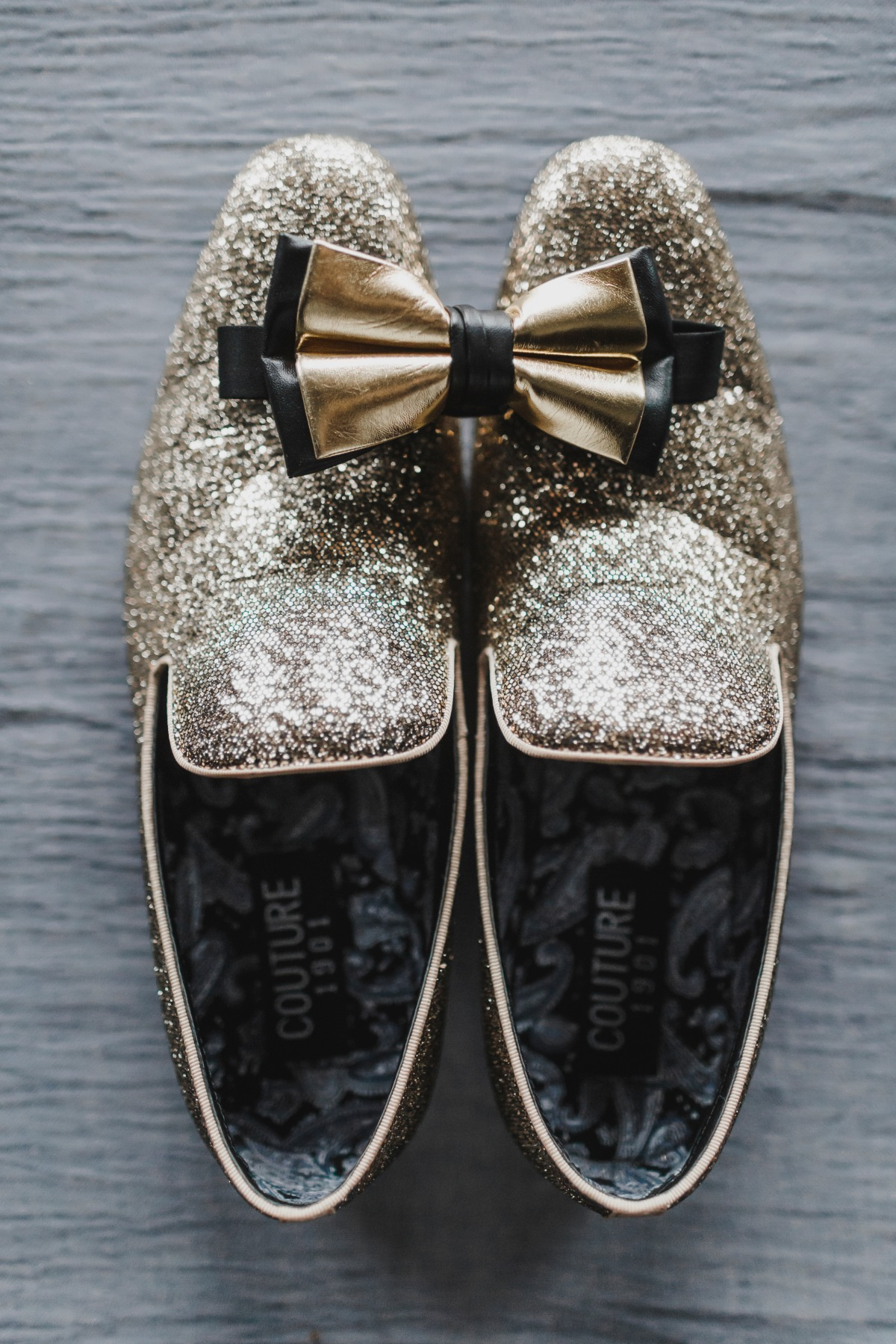 Sparkly groom shoes