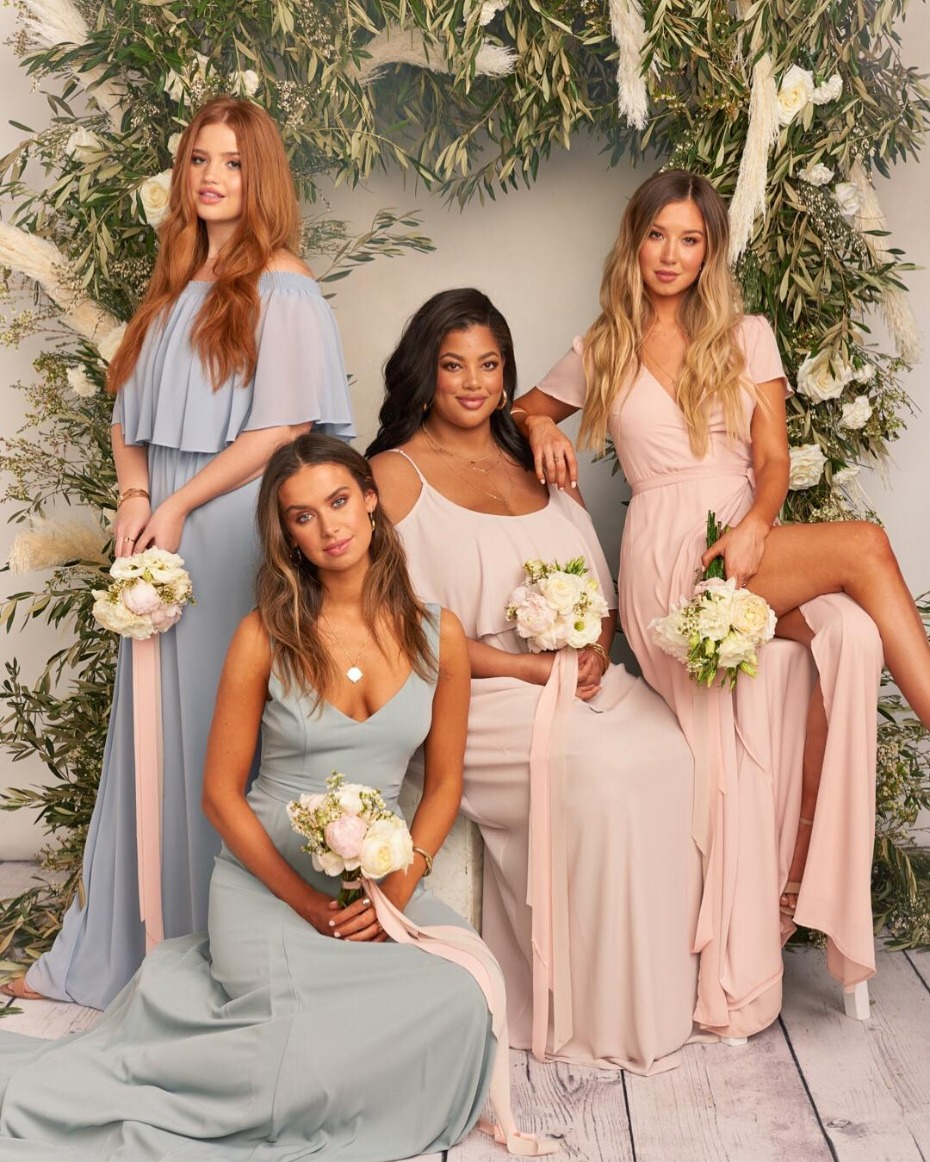 Show Me Your Mumu Bridesmaids in Extended 1X-3X Sizing