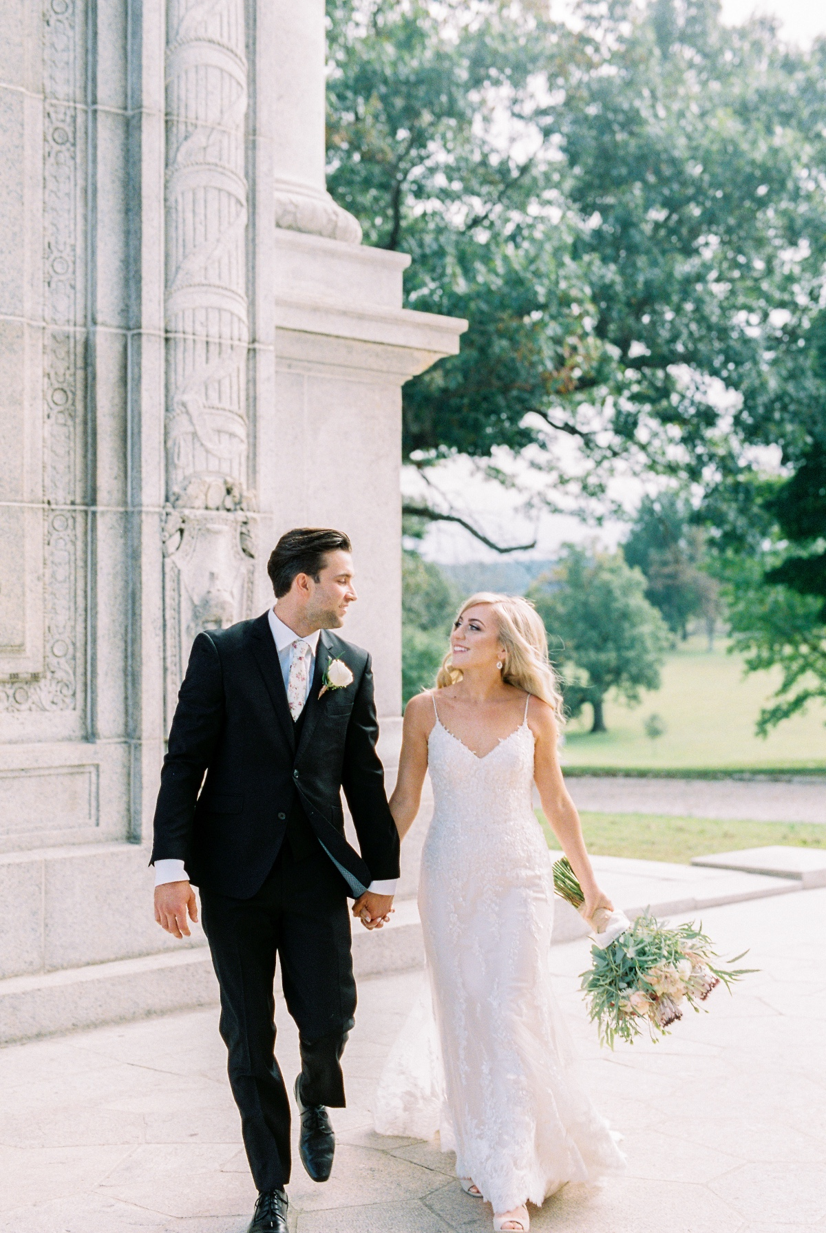 Chic floral-tie wedding