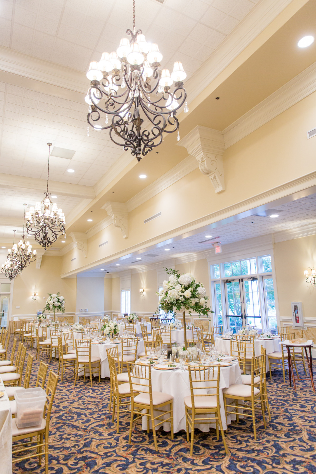 Classic gold and white reception