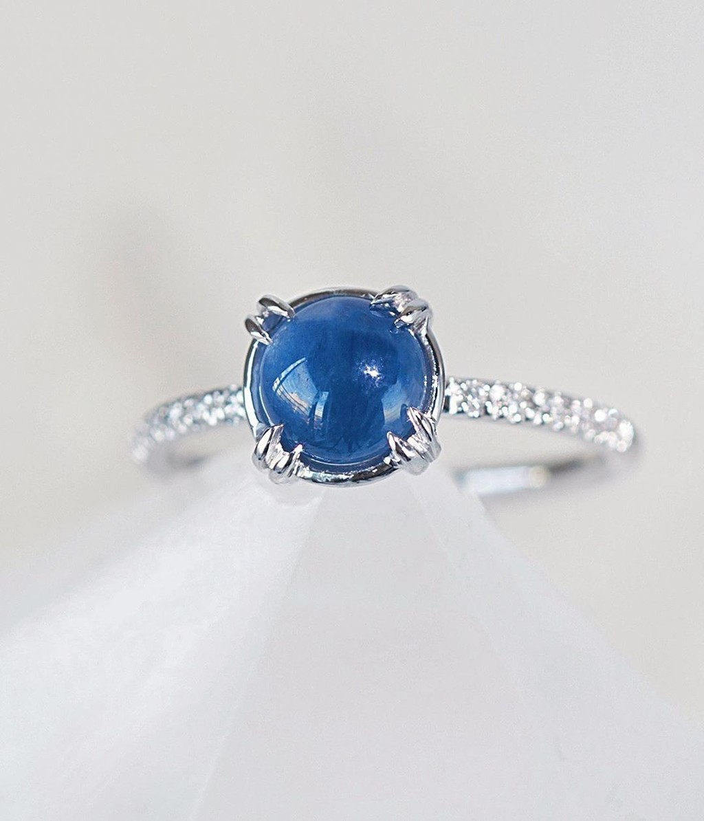 Am I cool enough for a Vintage Sapphire Cabochon Engagement Ring?