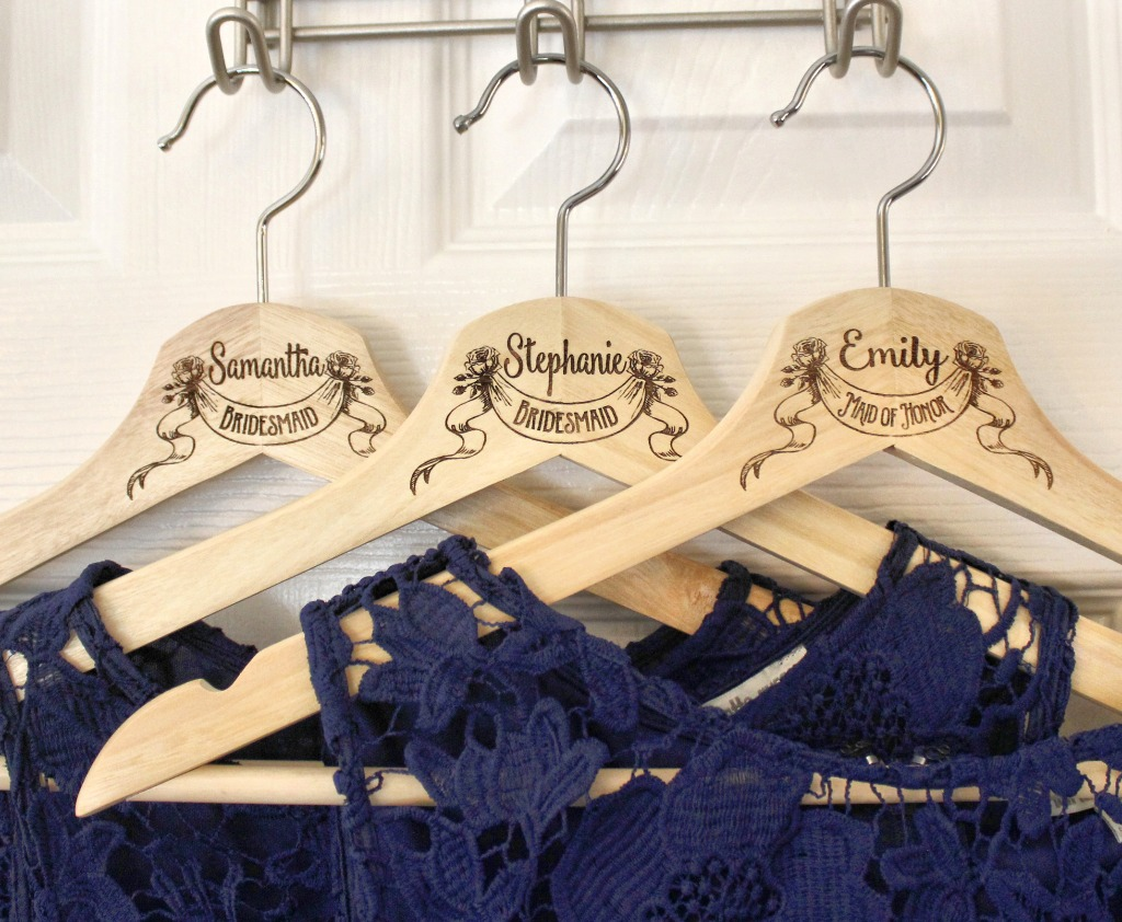 Bridal party hangers, bridesmaid proposal gifts