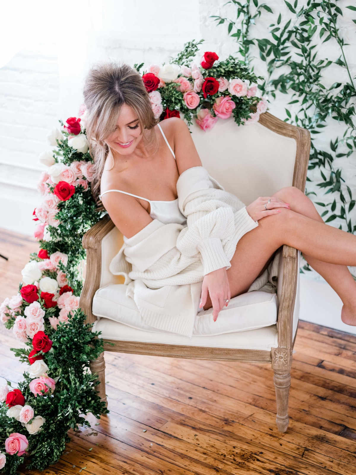 Boudoir session for Valentine's day
