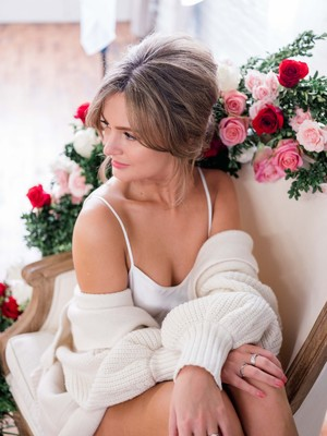 Romantic Couples Boudoir Session for Valentines Day