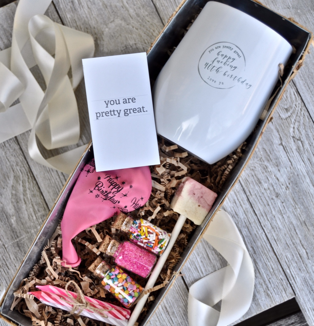 Customize your wine tumbler and gift with anything you would like! Your birthday bridesmaid will love it!!!