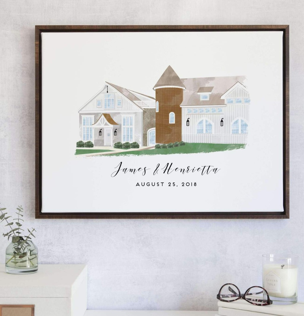 This Watercolor Venue Wedding Guest Book Alternative is a beautiful way to incorporate your wedding venue into your guest book!!