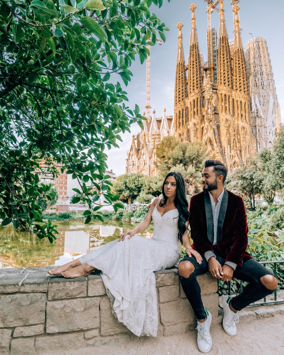 Zoe and Nick in Barcelona