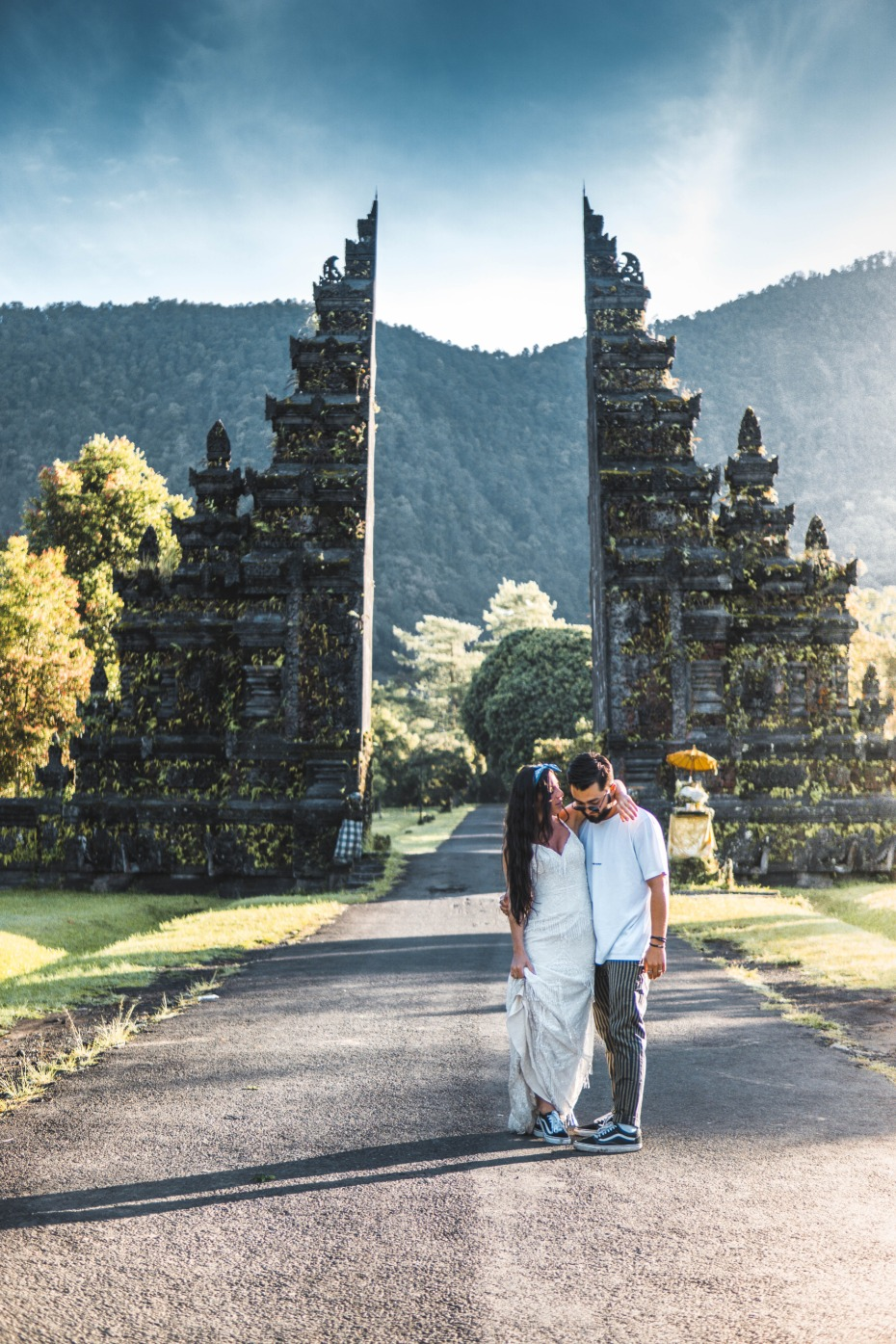 Nick and Zoe in Watters Gown in Bali