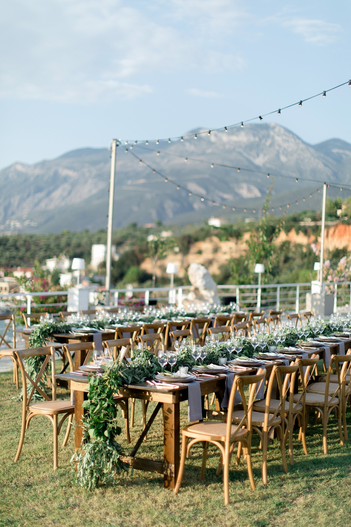 Natural outdoor reception in Greece