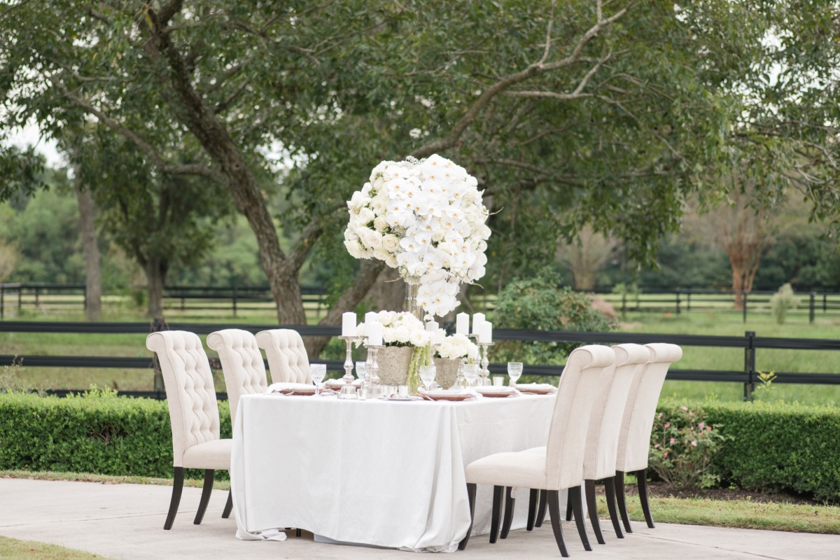Luxury wedding reception table