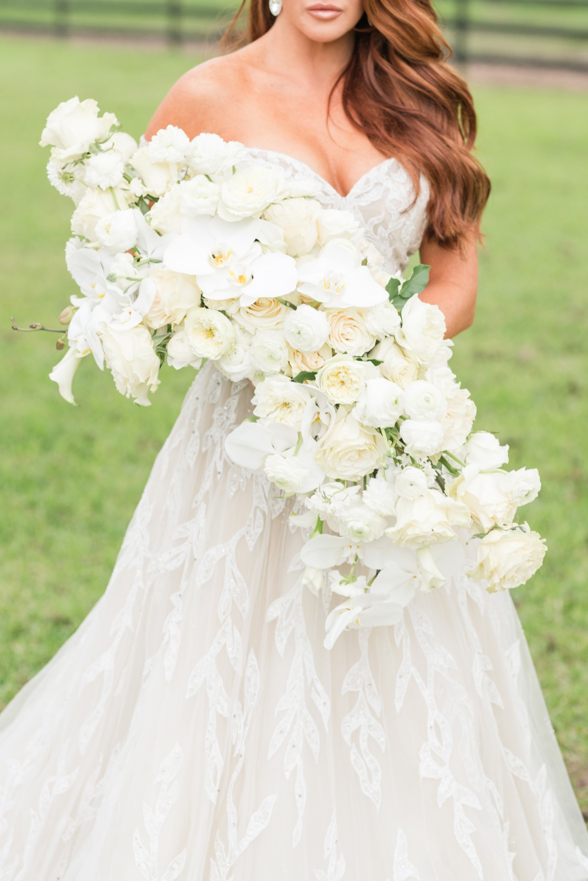 All-white wedding bouquet