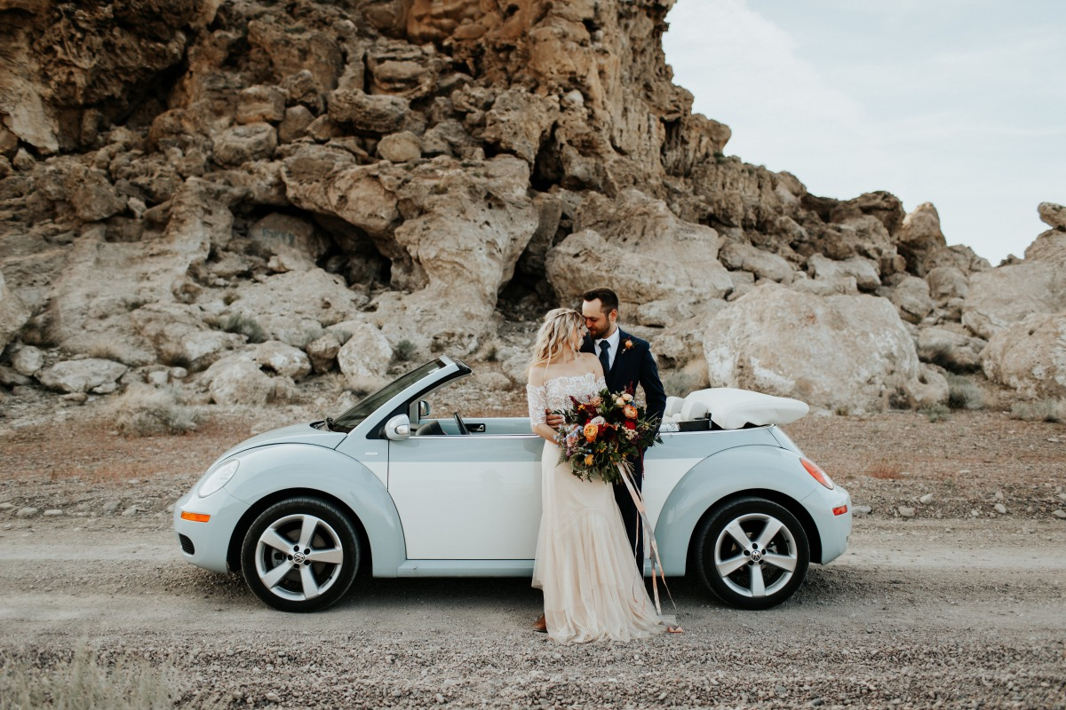 Bug getaway wedding car