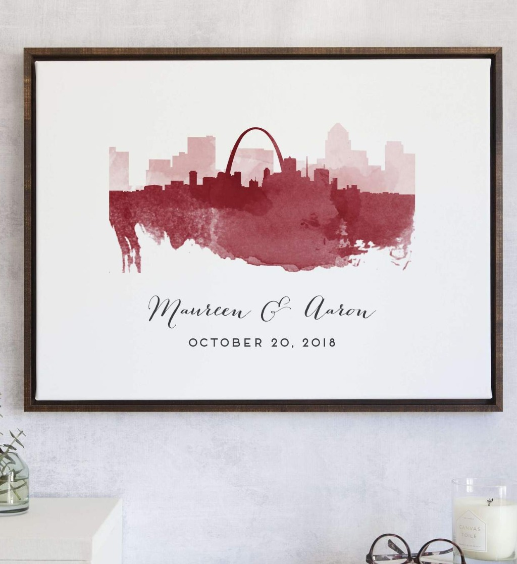 This Watercolor Skylines Guest Book Alternative from Miss Design Berry features the skylines that mean the most to you! We LOVE our