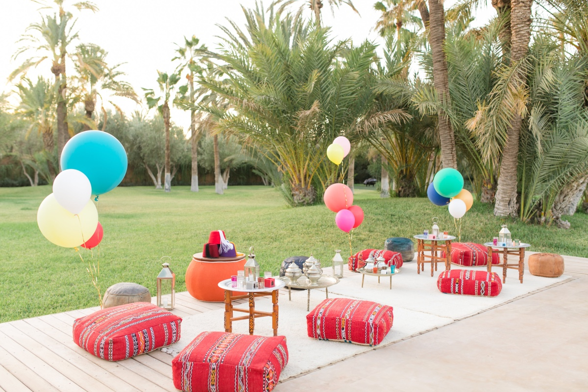 Moroccan style lounge