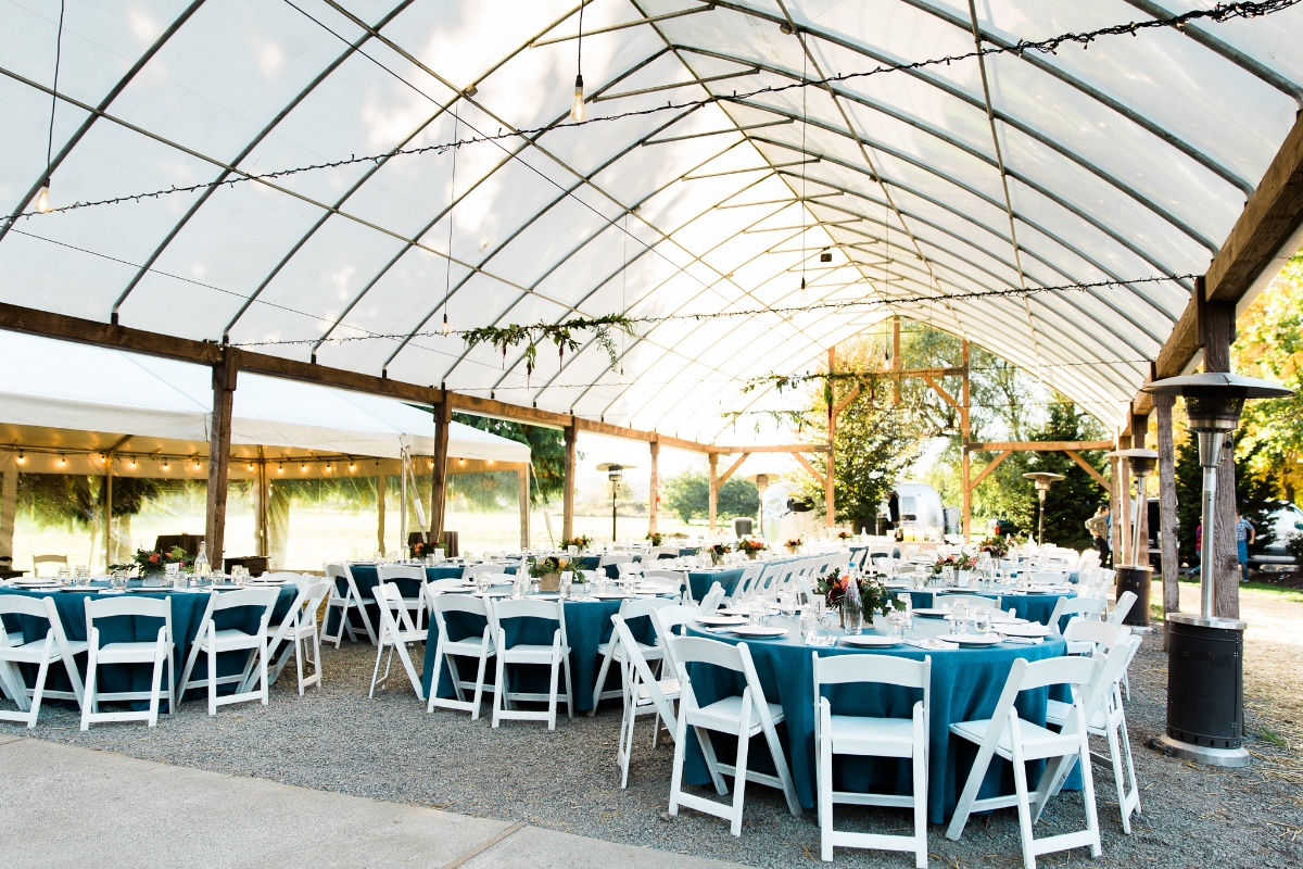 Greenhouse outdoor reception