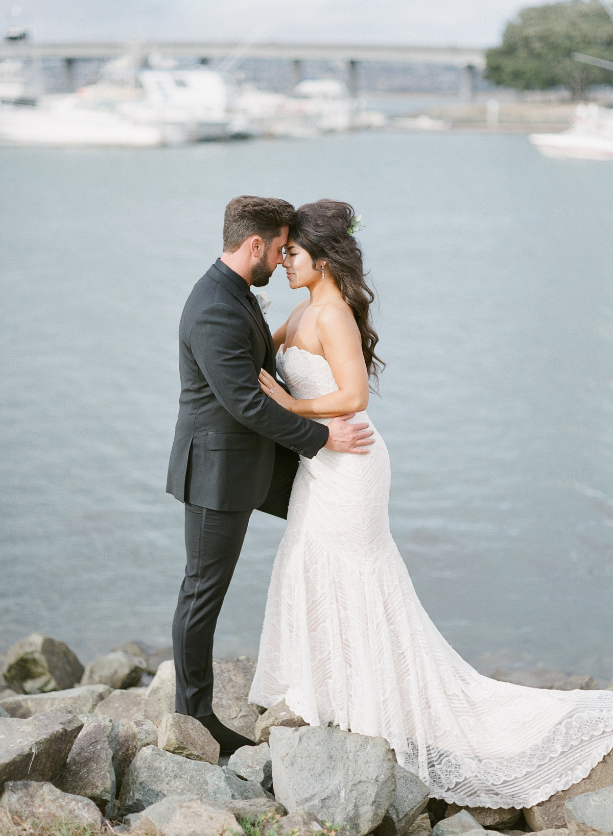 wedding portraits by the bay