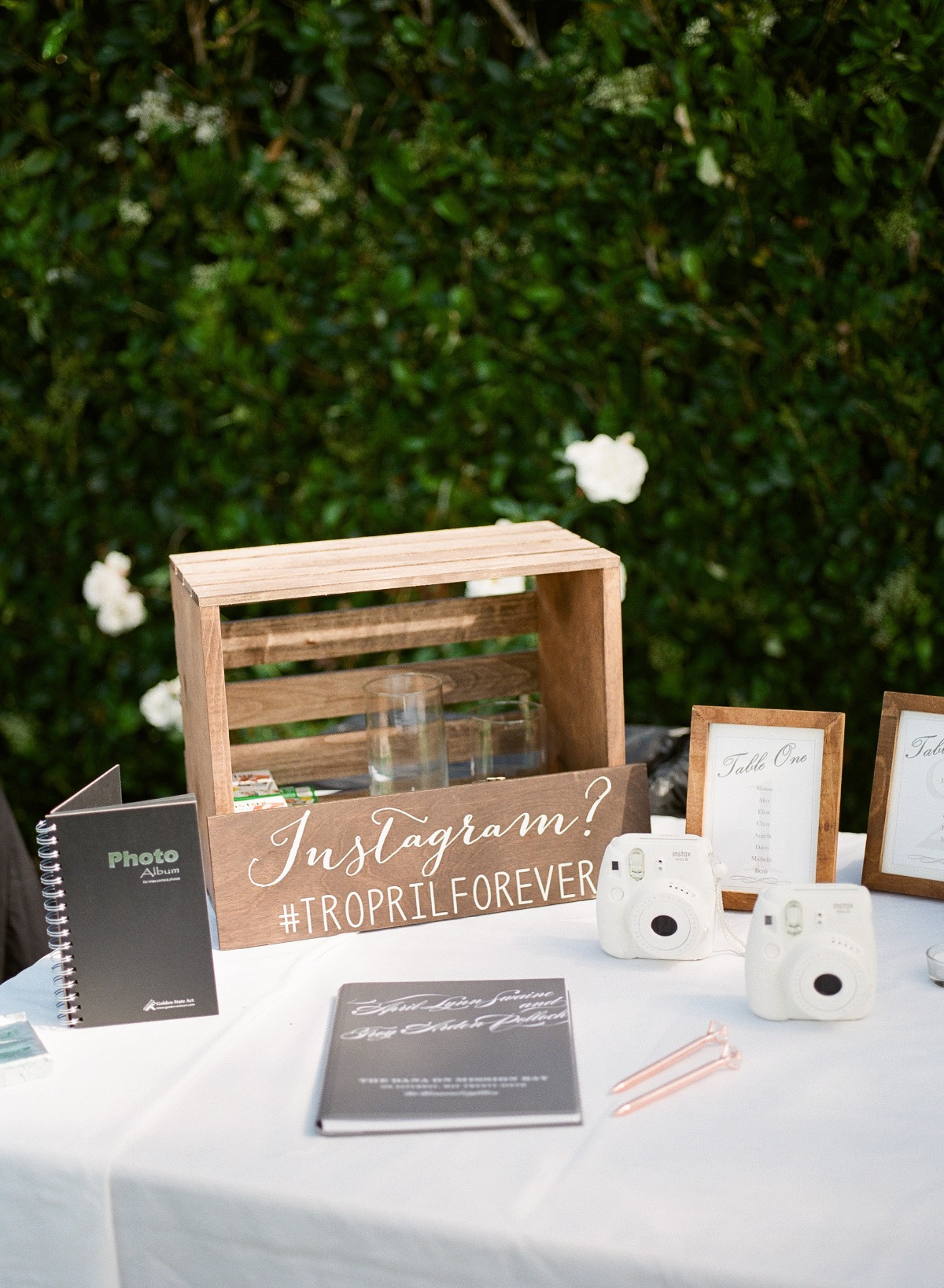 wedding guestbook table