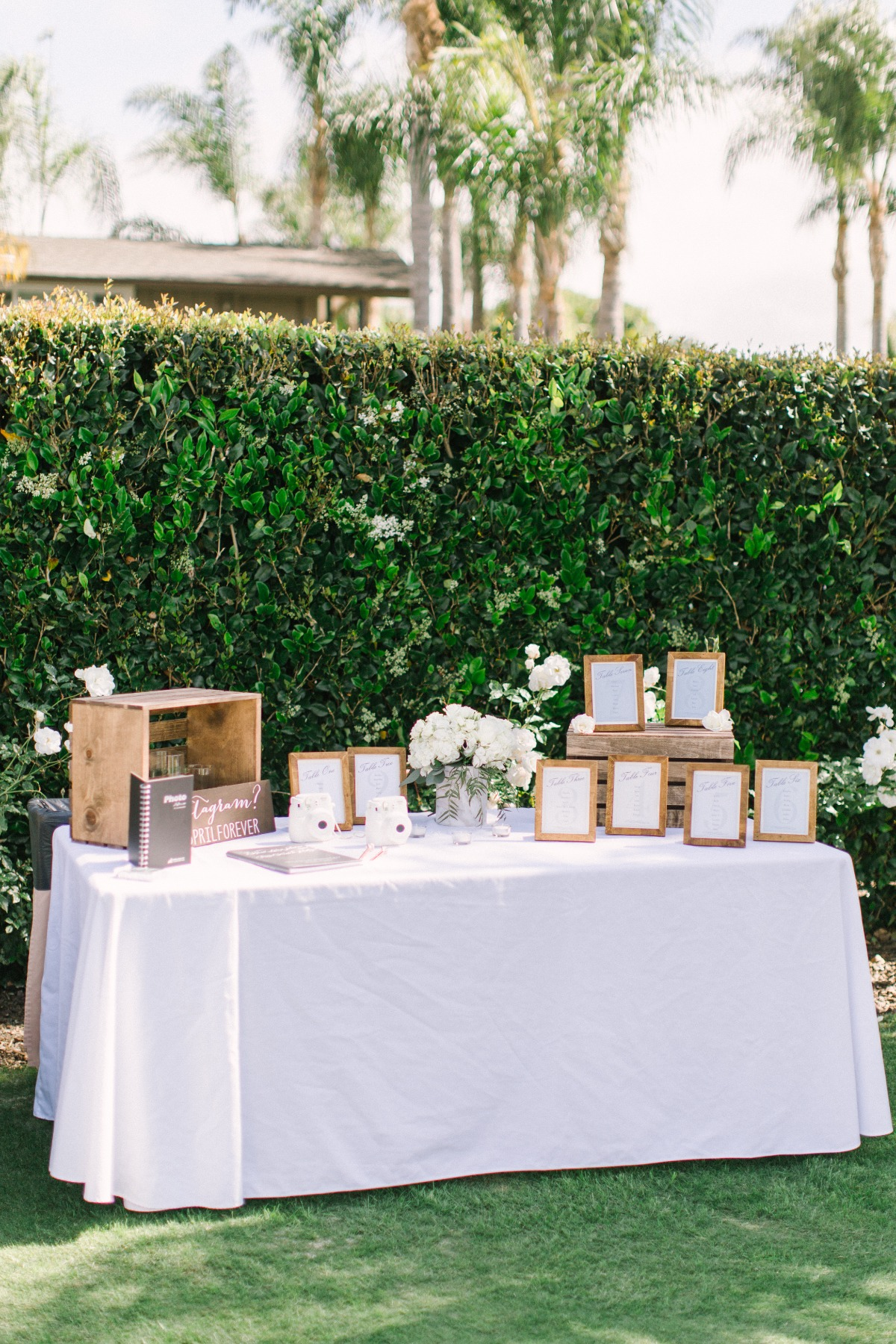 guestbook and seating assignment table