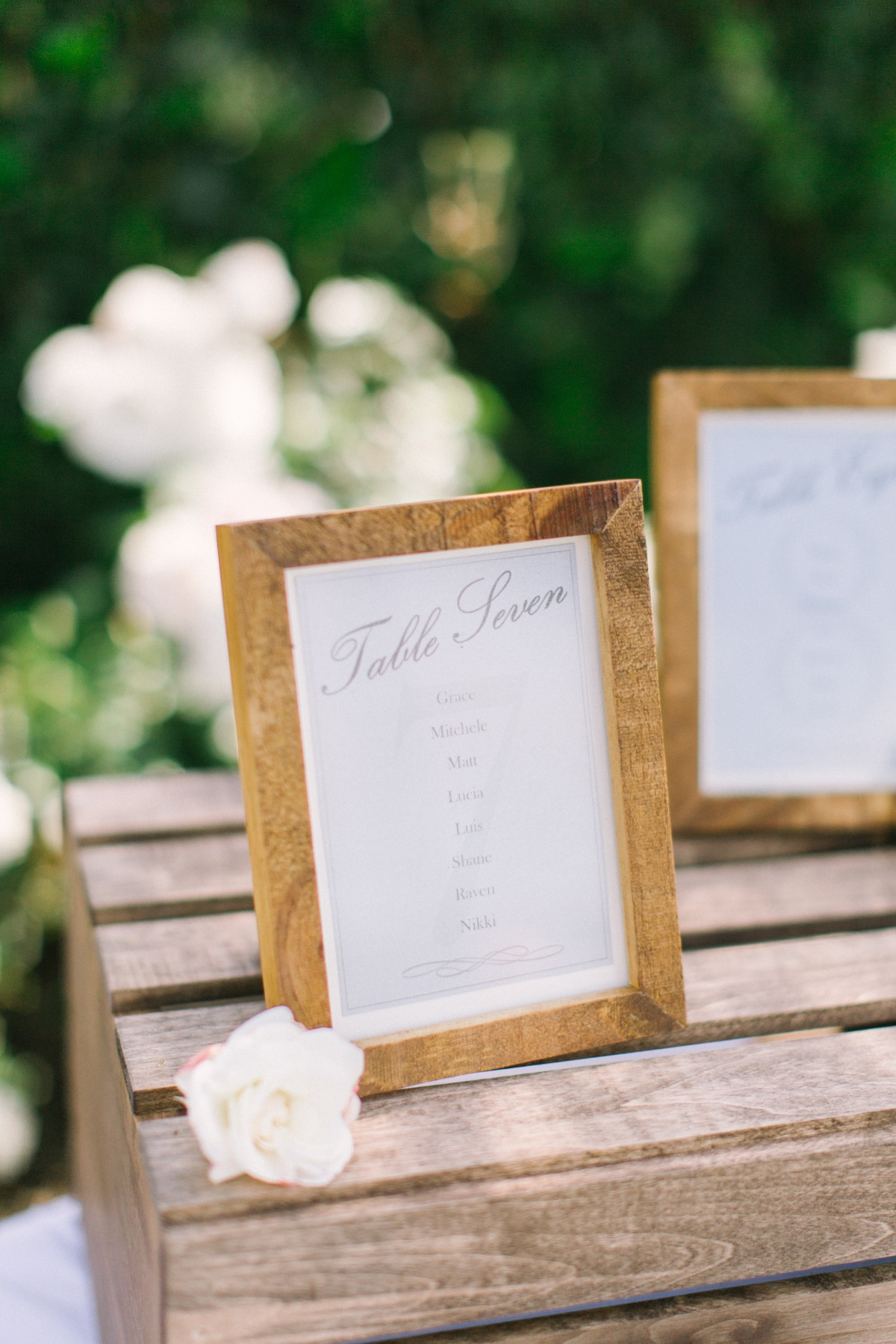 framed seating assignments