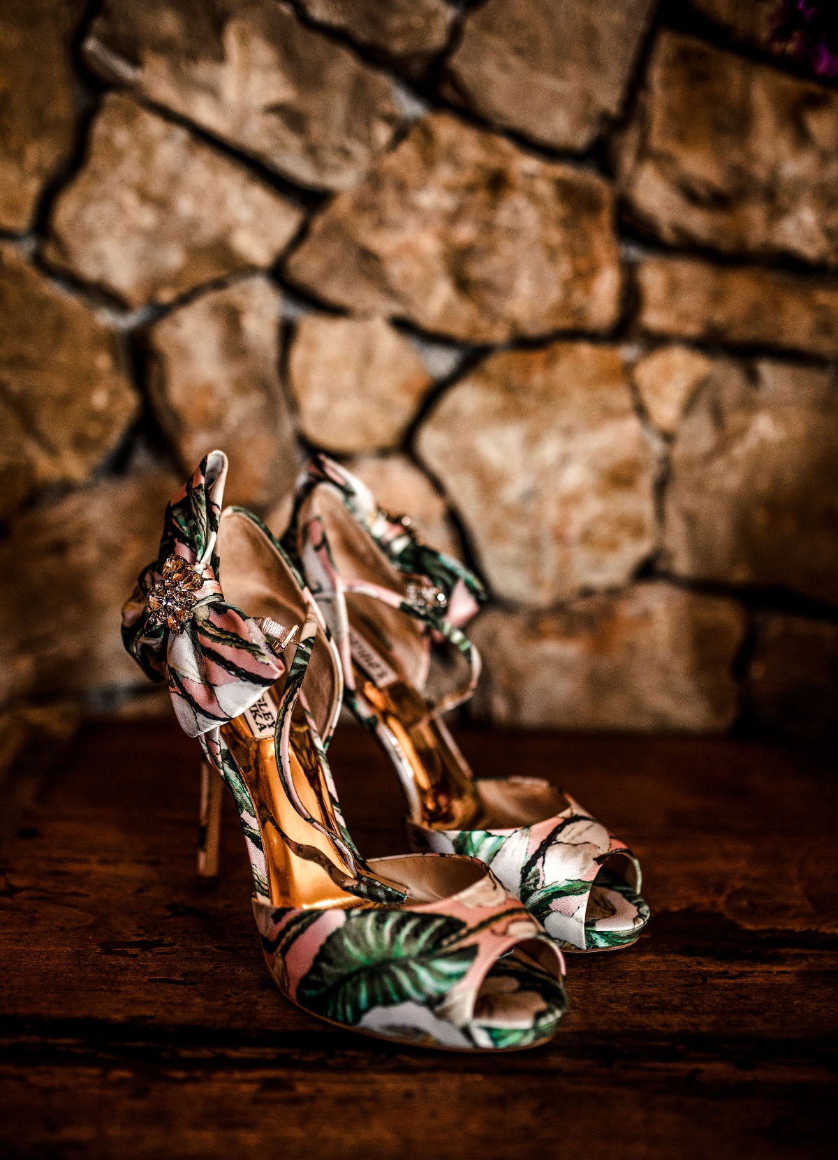 tropical themed wedding shoes