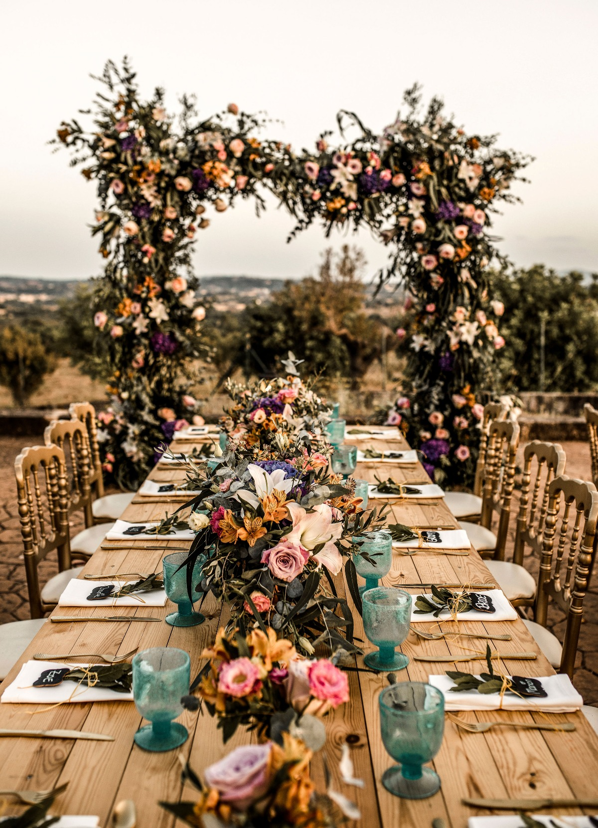 fun and funky wedding table decor