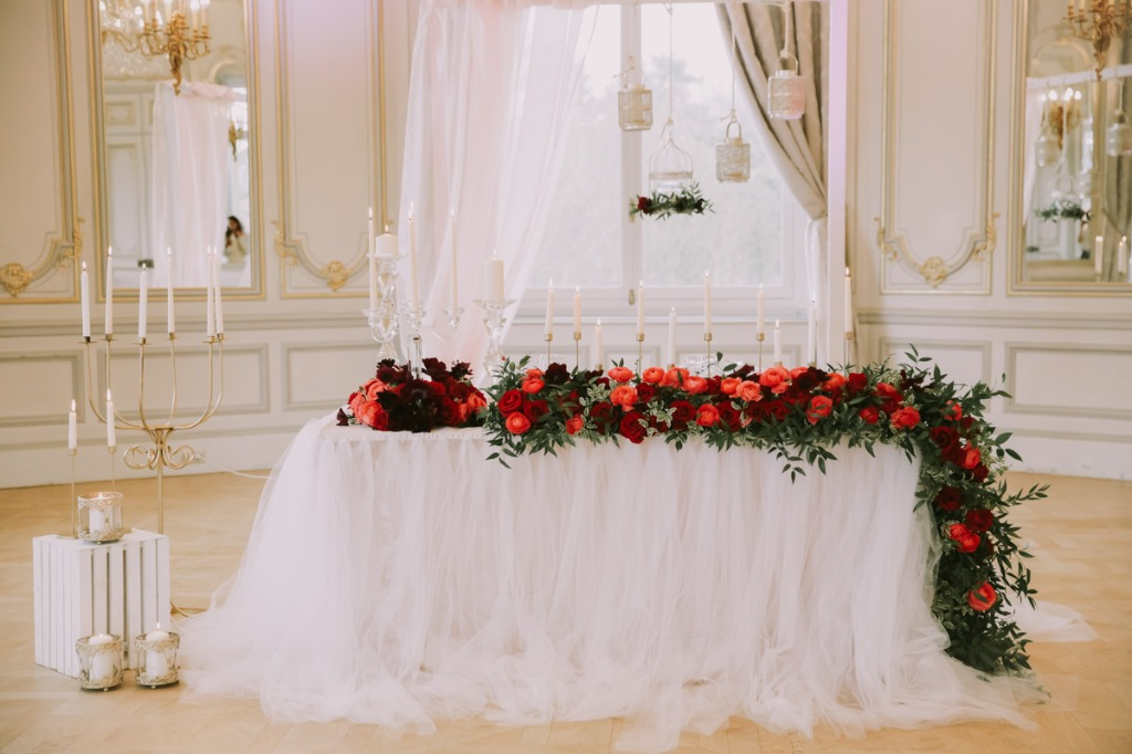 Wedding in Paris, table for Mr & Mrs