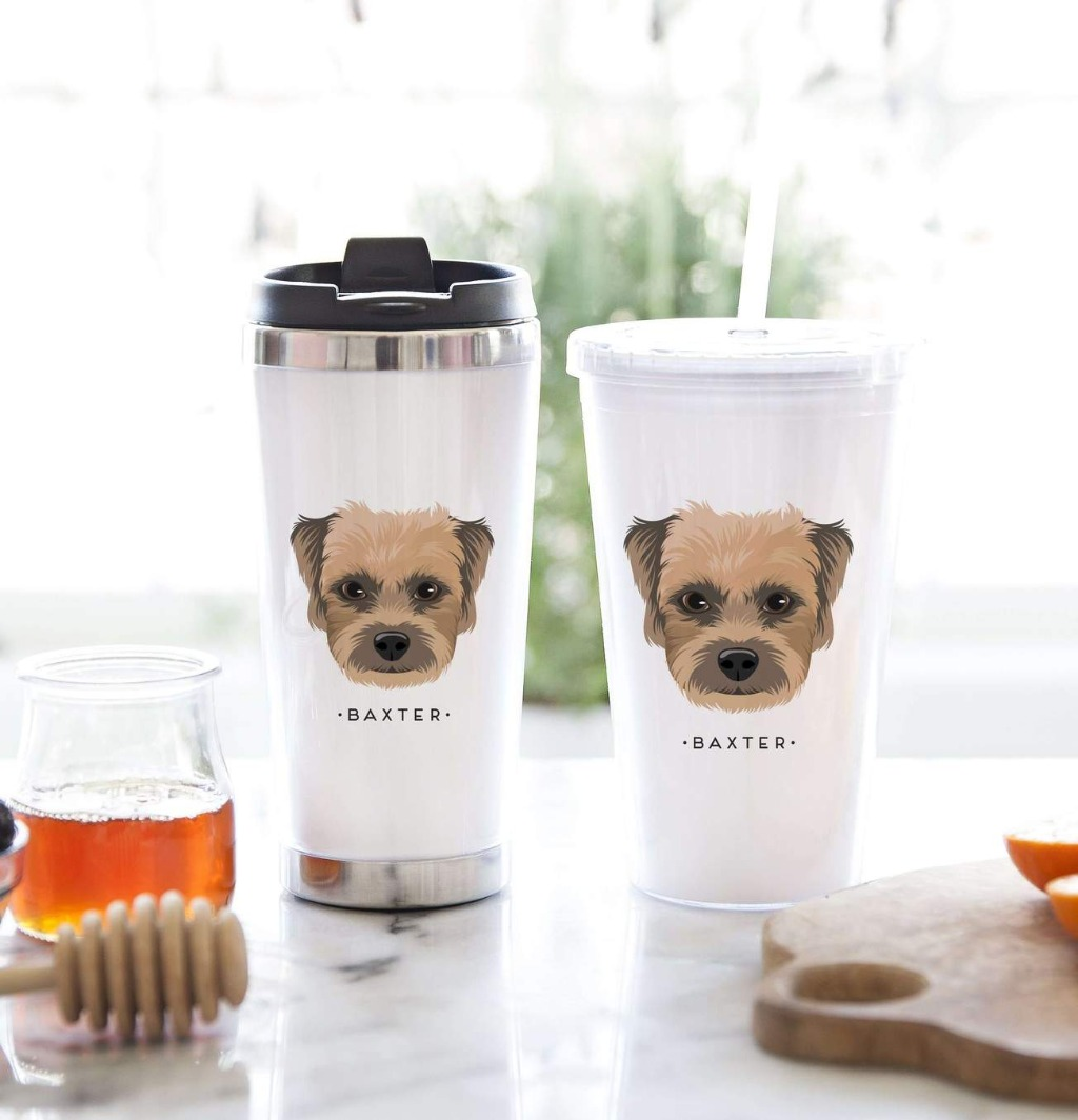 This awesome Tumbler Gift Set with Personalized Pet Portrait from Miss Design Berry makes the perfect gift for the pet lovers in your