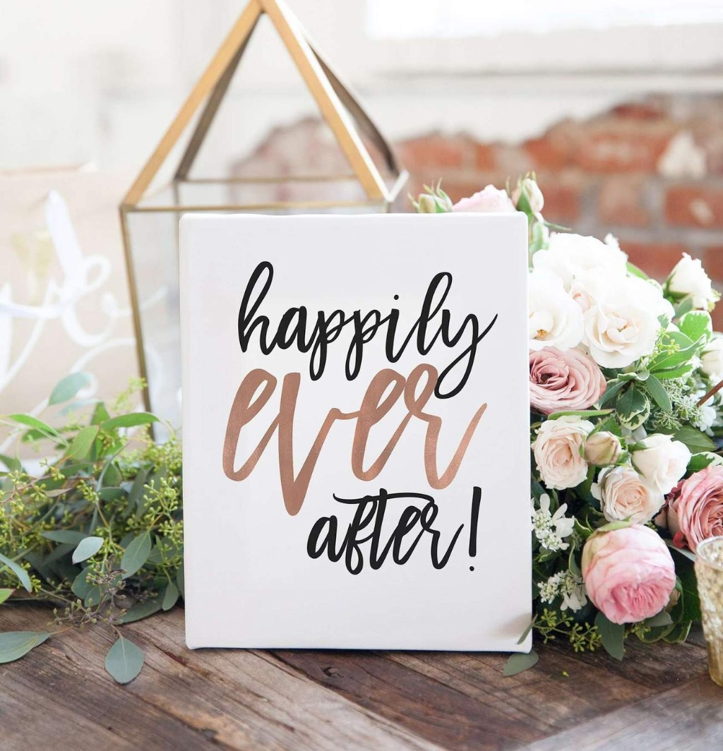 If you're a fan of the look of The Penny collection, this Happily Ever After Wedding Sign will fit in perfectly at your wedding reception