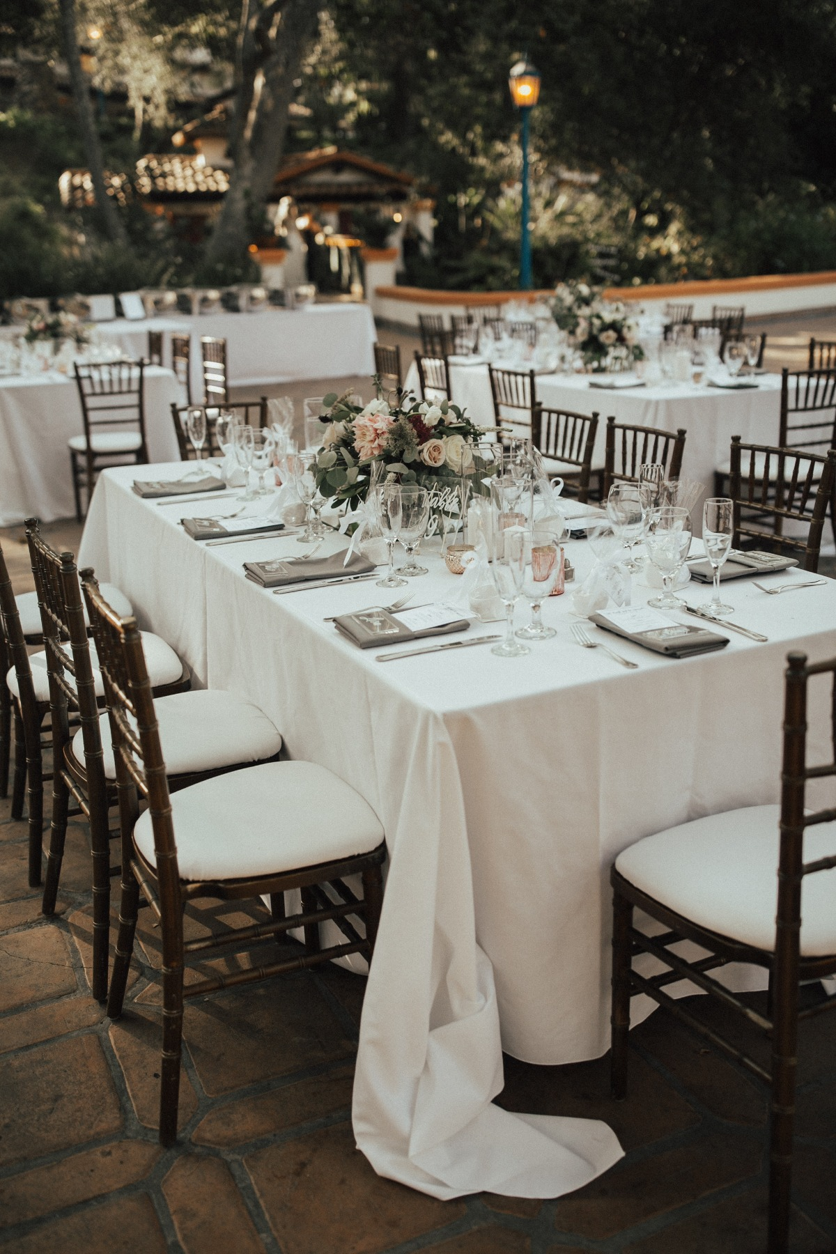 Outdoor reception at Rancho Las Lomas