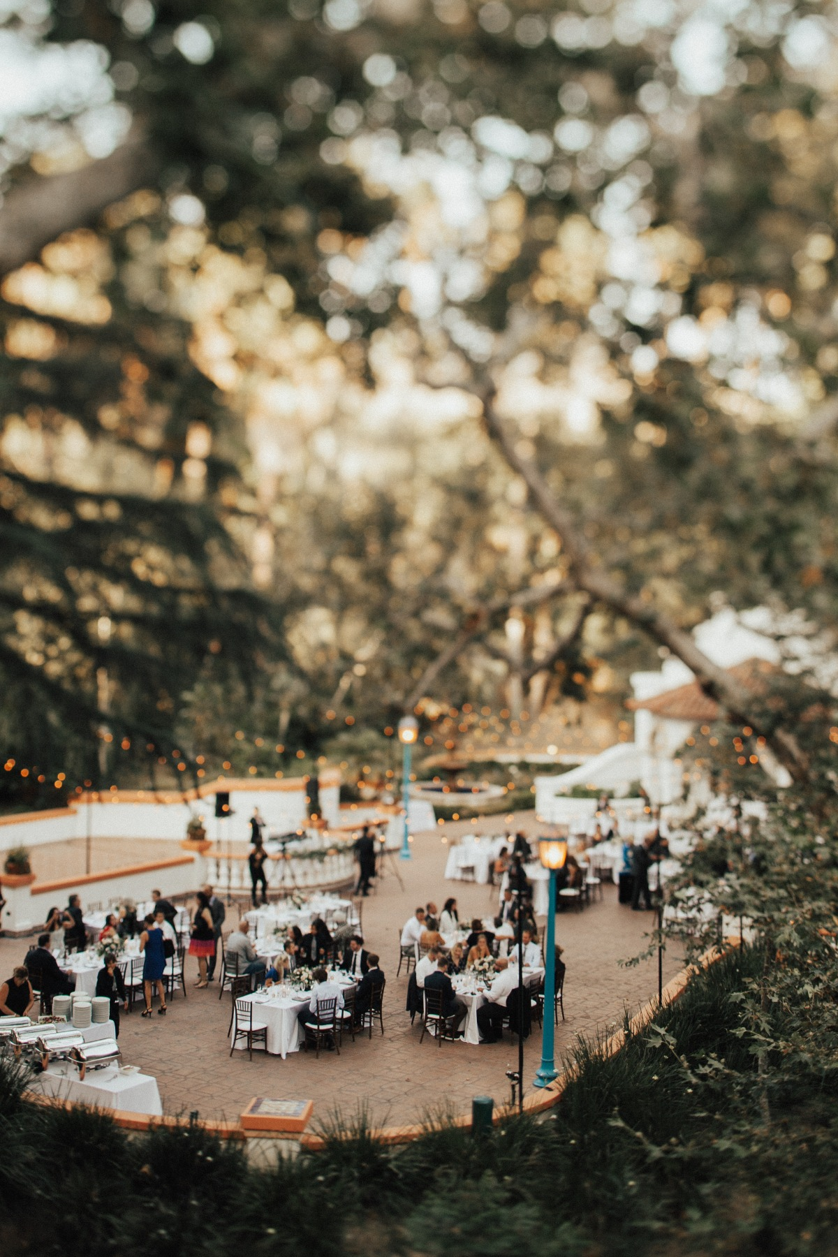 Romantic outdoor reception at Rancho Las Lomas
