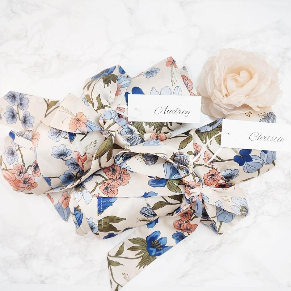 Love+Peony Bridesmaid Robes with Personalized Names