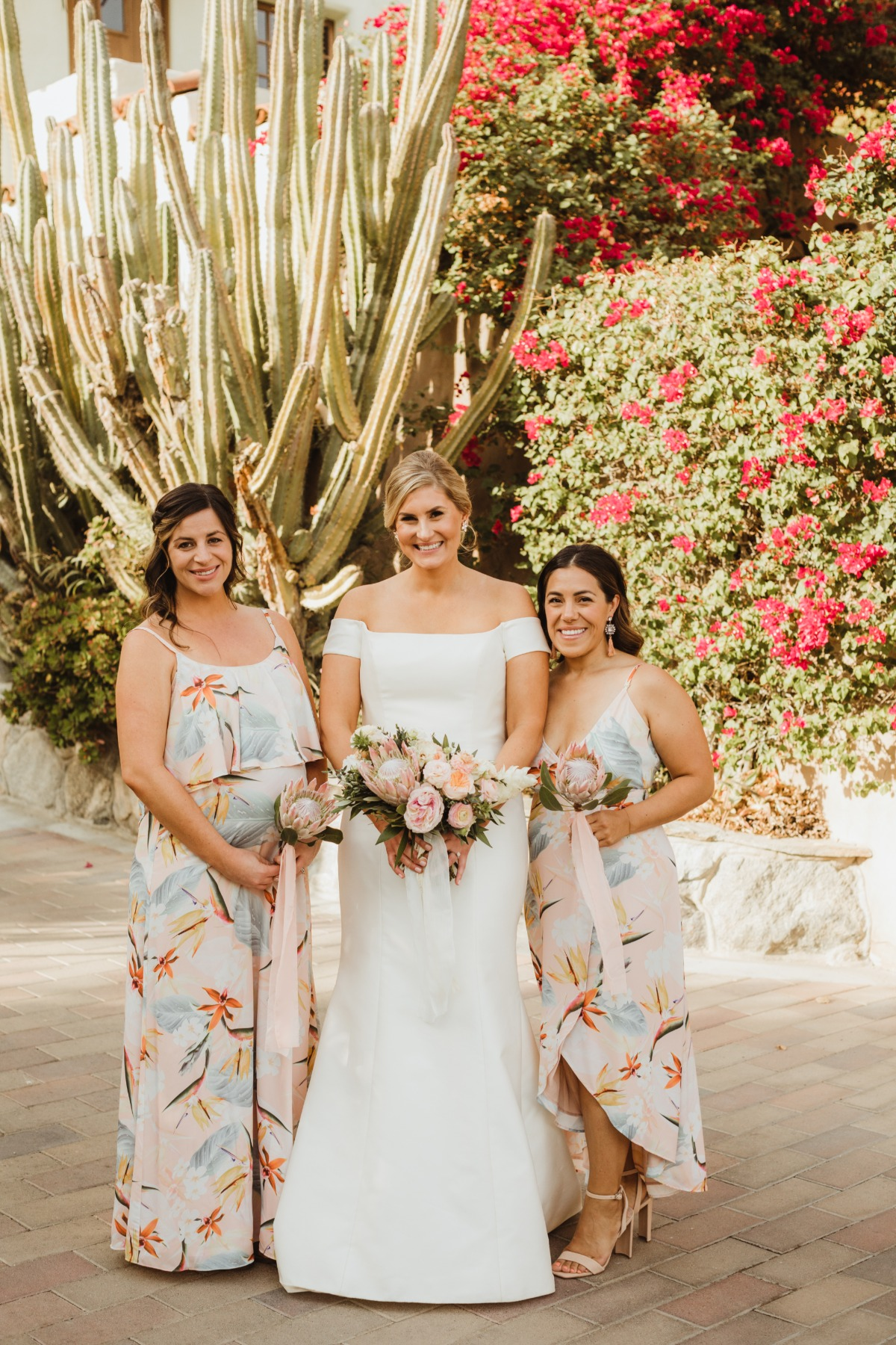 Flower bridesmaid dresses