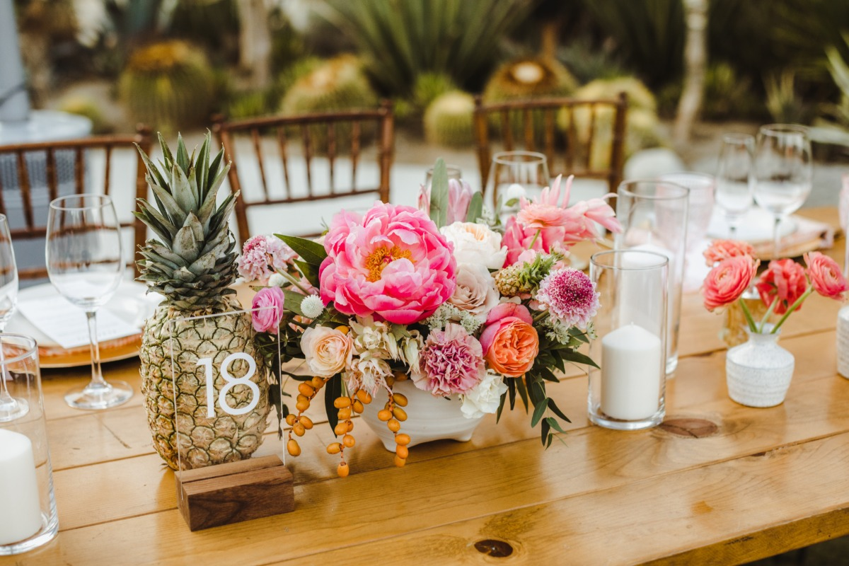 Tropical pineapple centerpiece