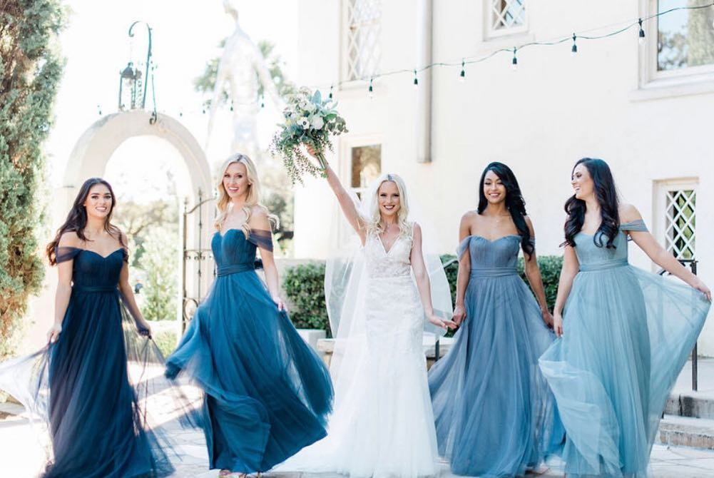 "The boldest babes who were born to be the bride's ""something blue.""👯‍♀️"