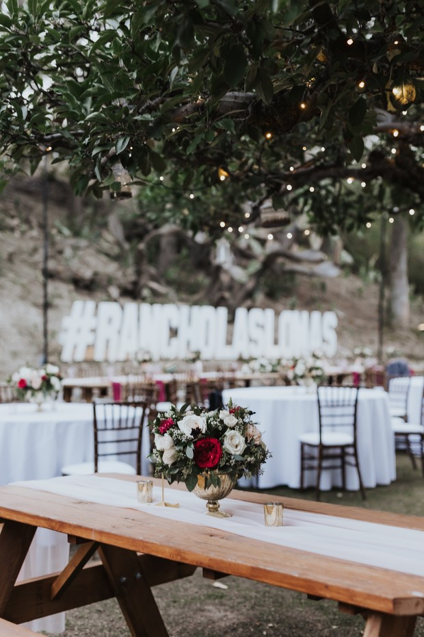 Outdoor reception at Rancho Las Lomas Estate