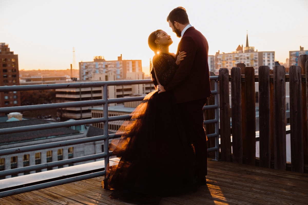 rooftop wedding photos
