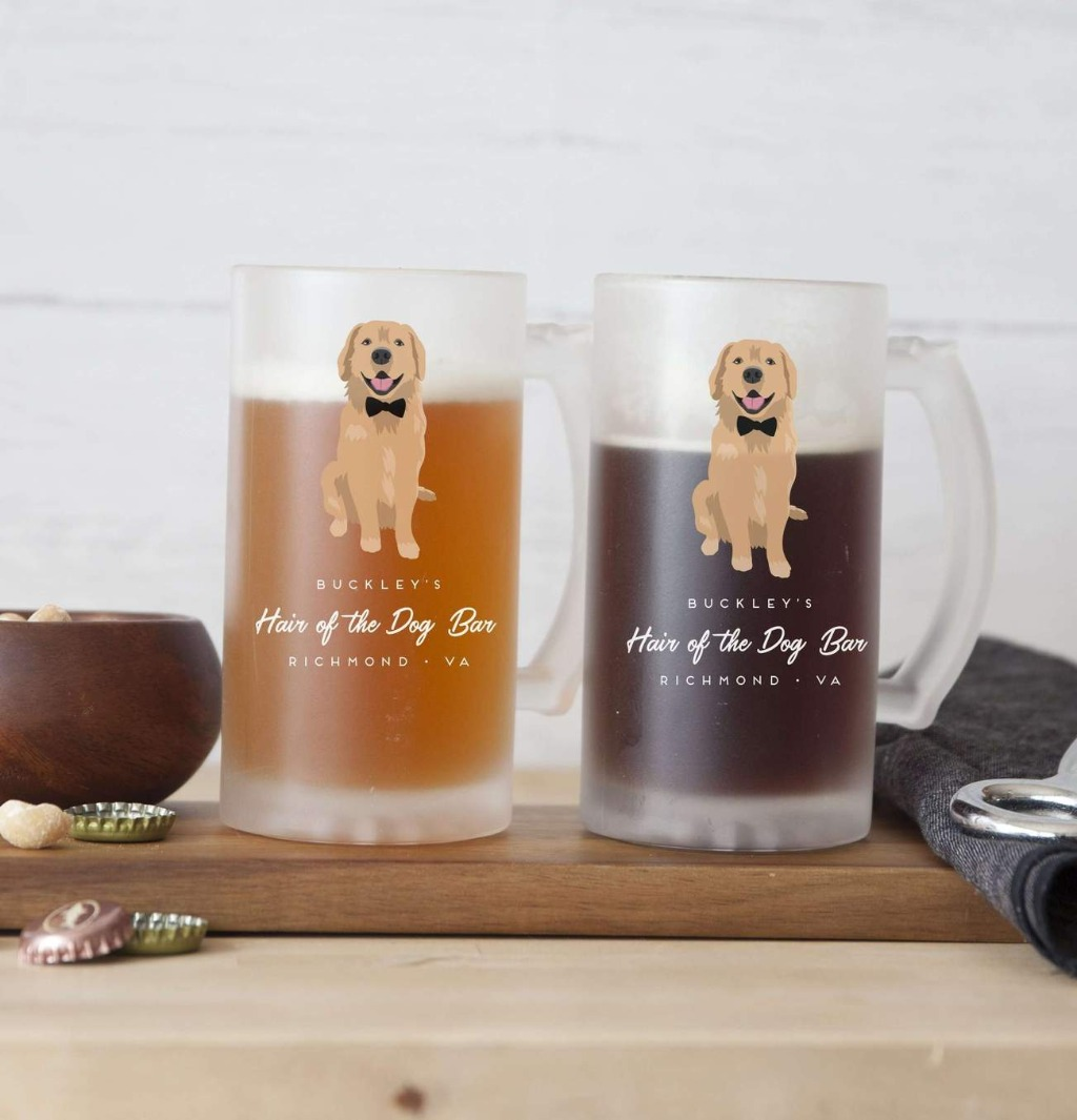 These Pet Portrait Pint Glasses are perfect for your home bar and will wow any friends that pop in for a pint!!
