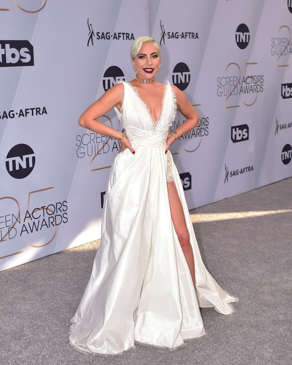 Lady Gaga in Dior Haute Couture at SAG Awards 2019