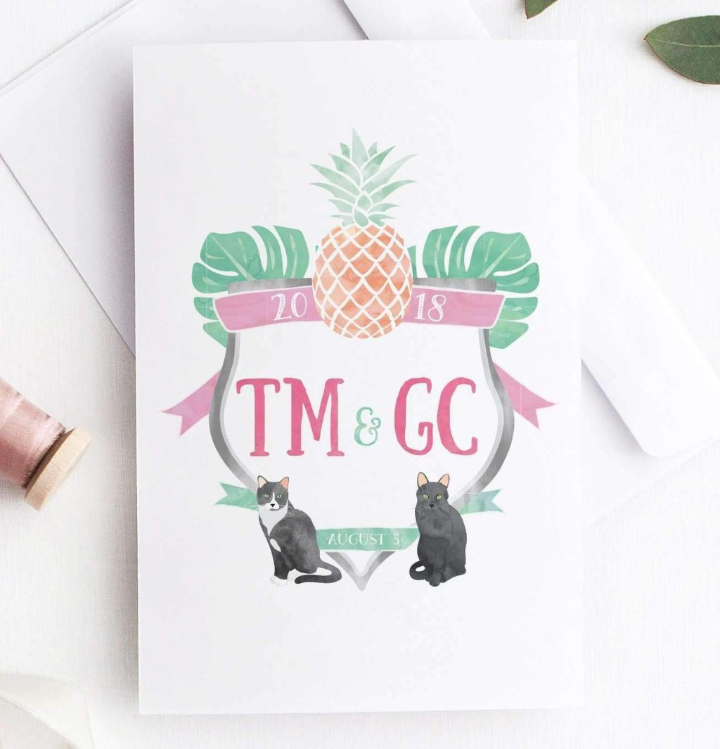 If you're looking for a custom crest for your big day, you'll love our Watercolor Wedding Crest Designs!!
