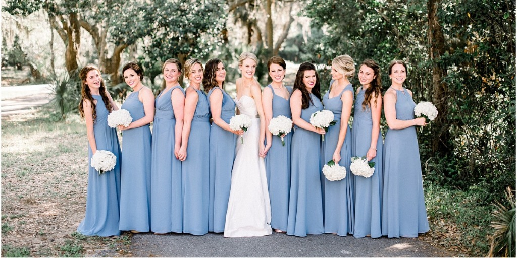 A Real Life Fairytale Wedding In Blue And White